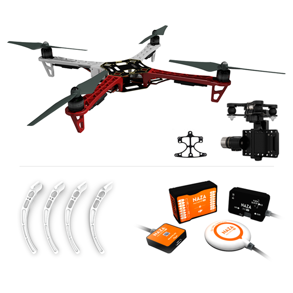 F450 ARF KIT + Landing Gear + Naza-M V2 + Mounting Adapter for F450 + Zenmuse H3-3D (Standard)