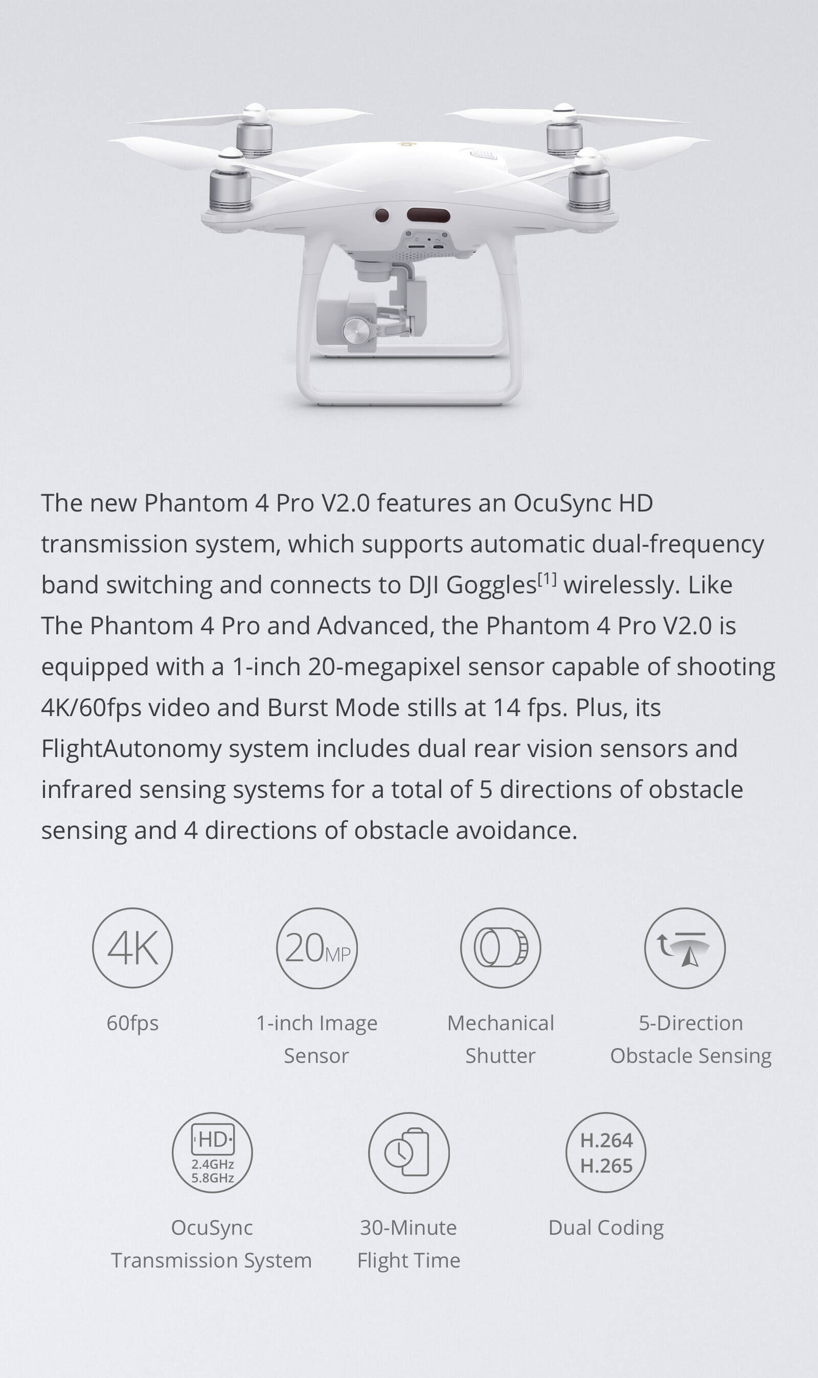 DJI Phantom 4 Pro V2.0 Features