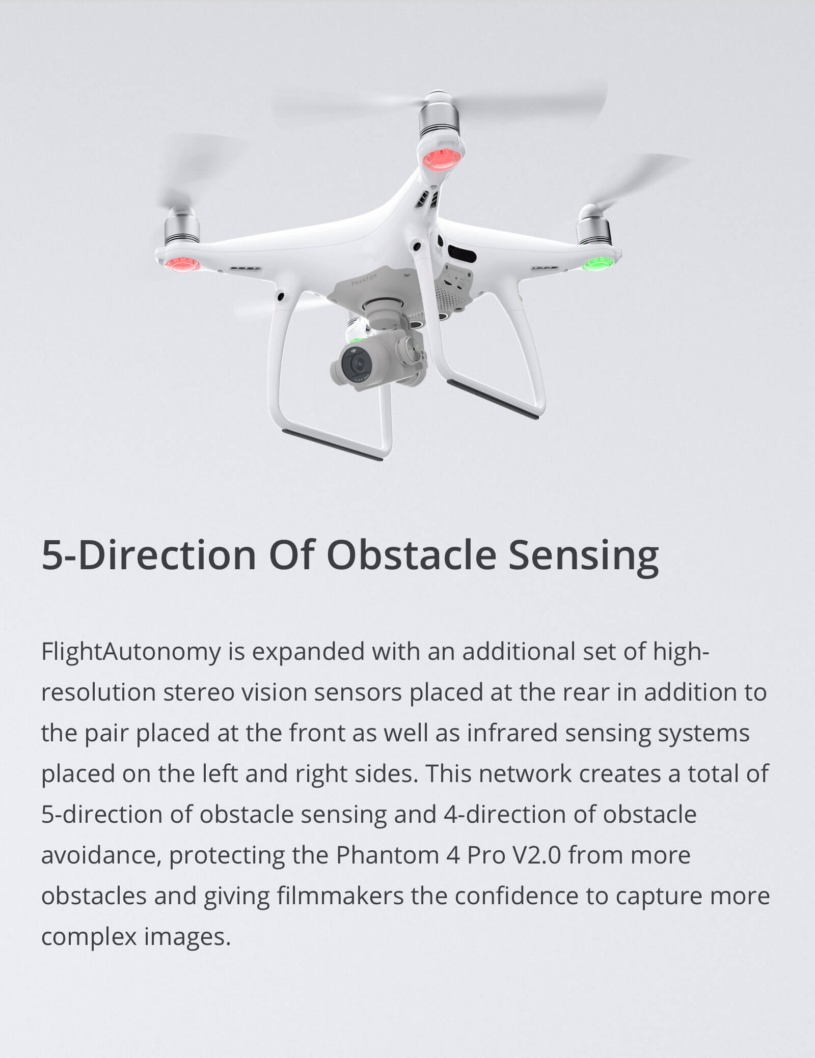 DJI Phantom 4 Pro V2.0 Obstacle Avoidance