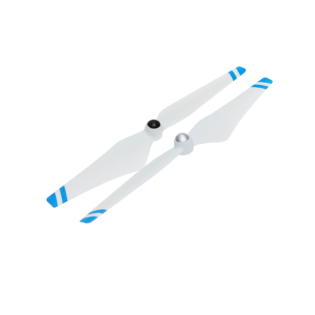 9450 Self-tightening Propellers (Composite Hub, White with Blue Stripes)