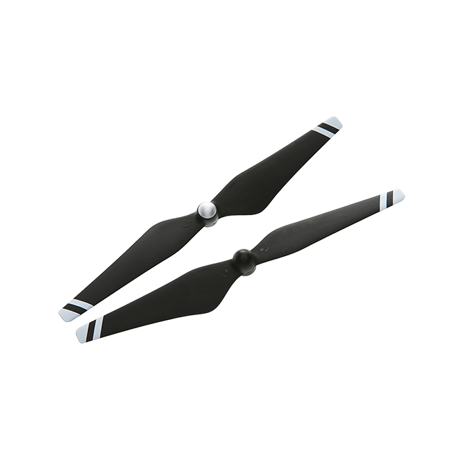 9450 Carbon Fiber Reinforced Self-tightening Propellers (Composite Hub, Black with White Stripes)